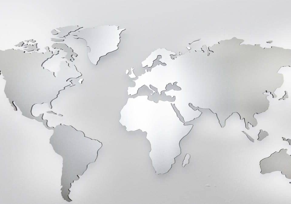 aluminium world map